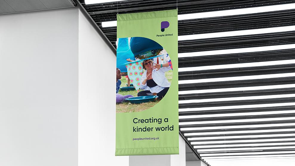 Branded drop banner