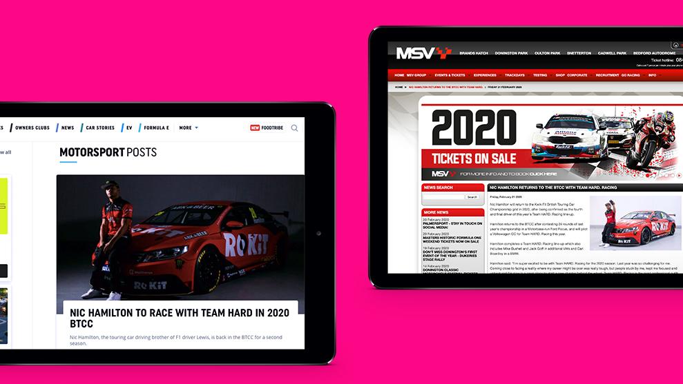 Article release on key motorsport sites